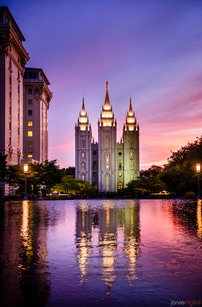 Salt Lake Temple - Reflection