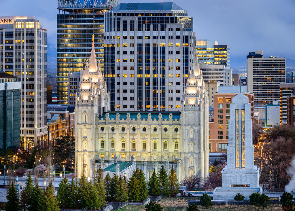 Salt Lake City Temple - Nestled into the city