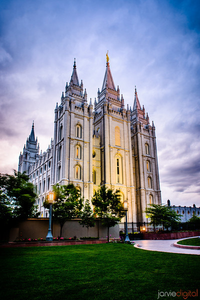 Salt Lake Temple Sunset