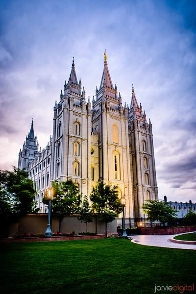 Salt Lake Temple Sunset