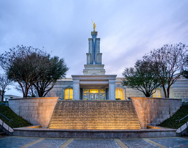 San Antonio Temple - Fountain front