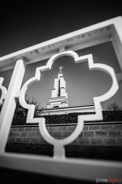 San Antonio Temple through gate