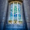 San Antonio Temple Window