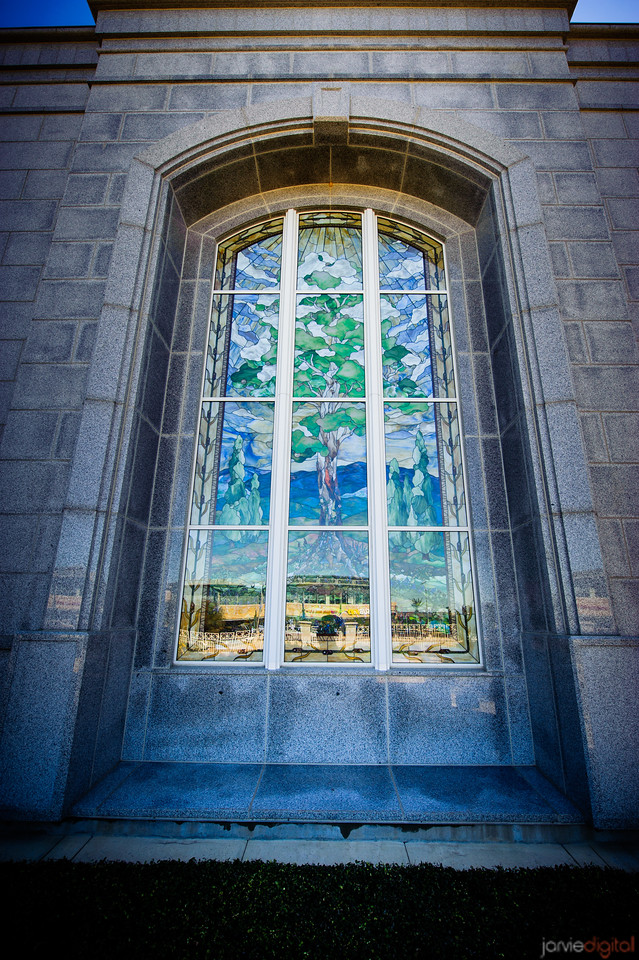 San Antonio Temple Window