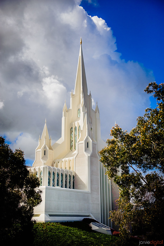 San Diego Temple Spire and Cloud