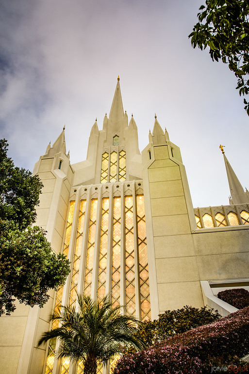 San Diego Temple - Looking up