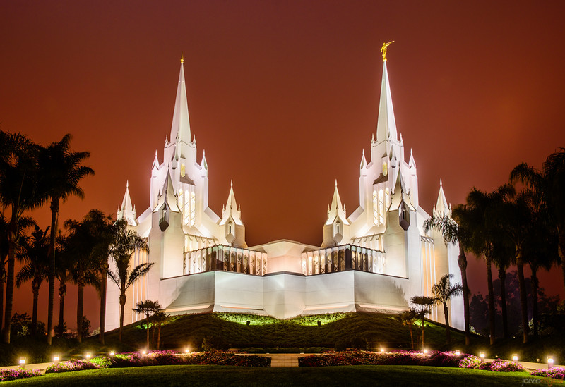 San Diego Temple Red