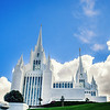 San Diego Temple blue skies (down hill)
