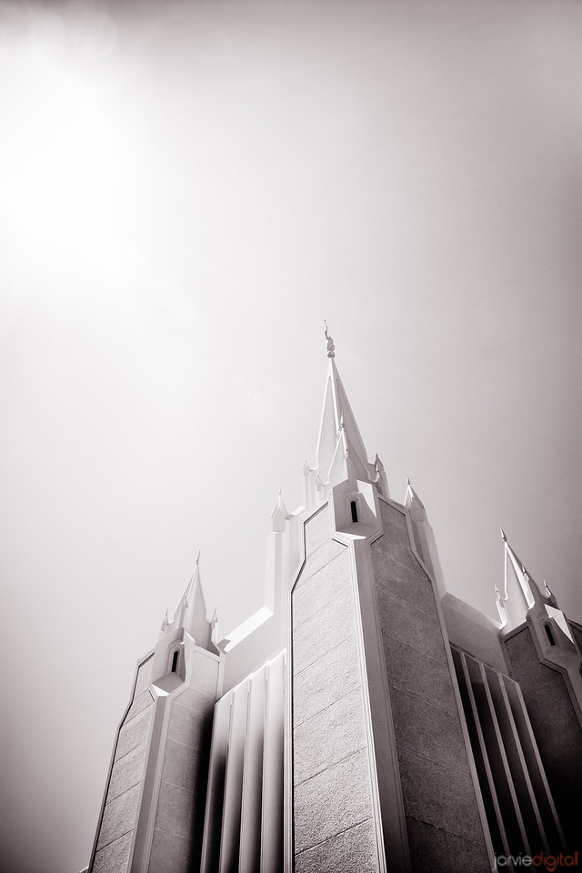 San Diego Temple BW