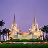 San Diego Temple Morning (Purple)