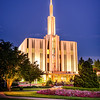 Seattle Temple Sunset (Front)