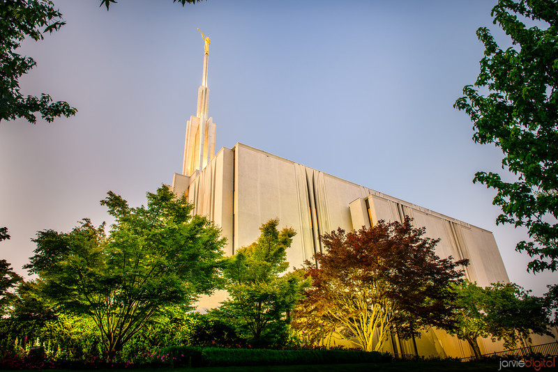 Seattle Temple Sunset (Side)