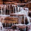 Snowflake temple waterfall
