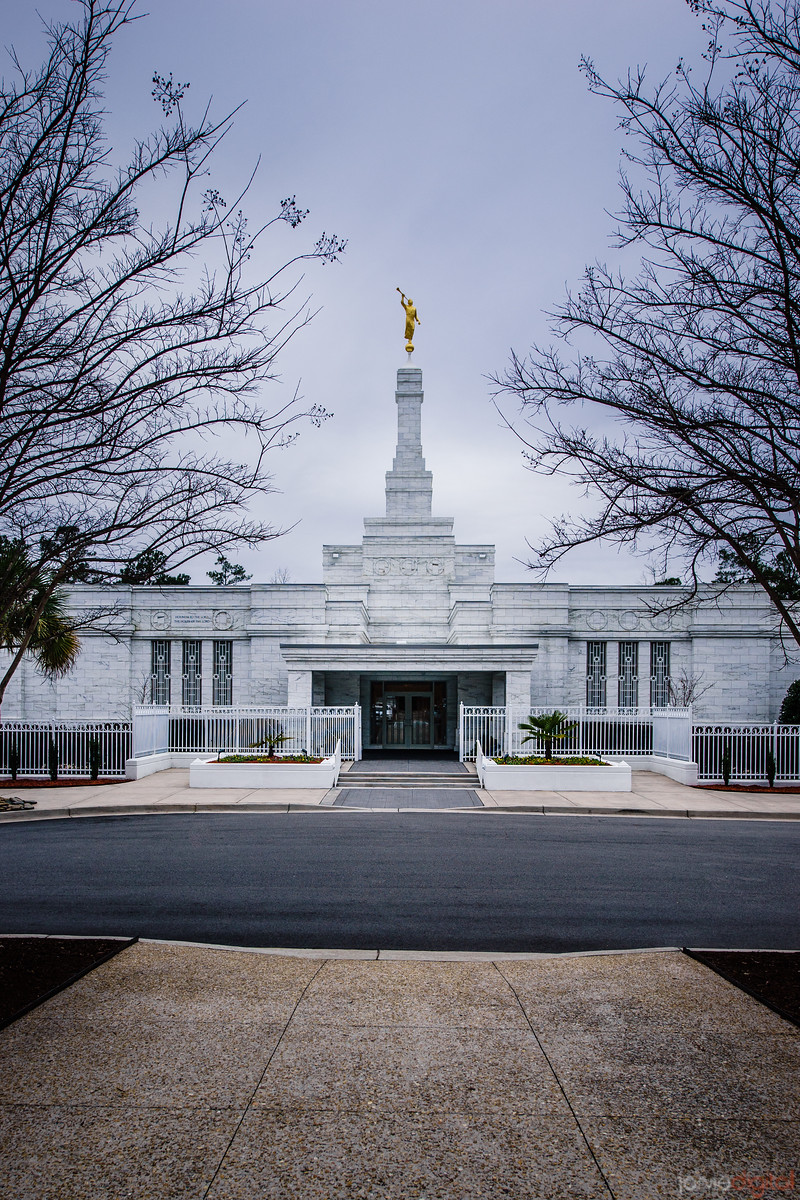 South Carolina Temple Front with Trees