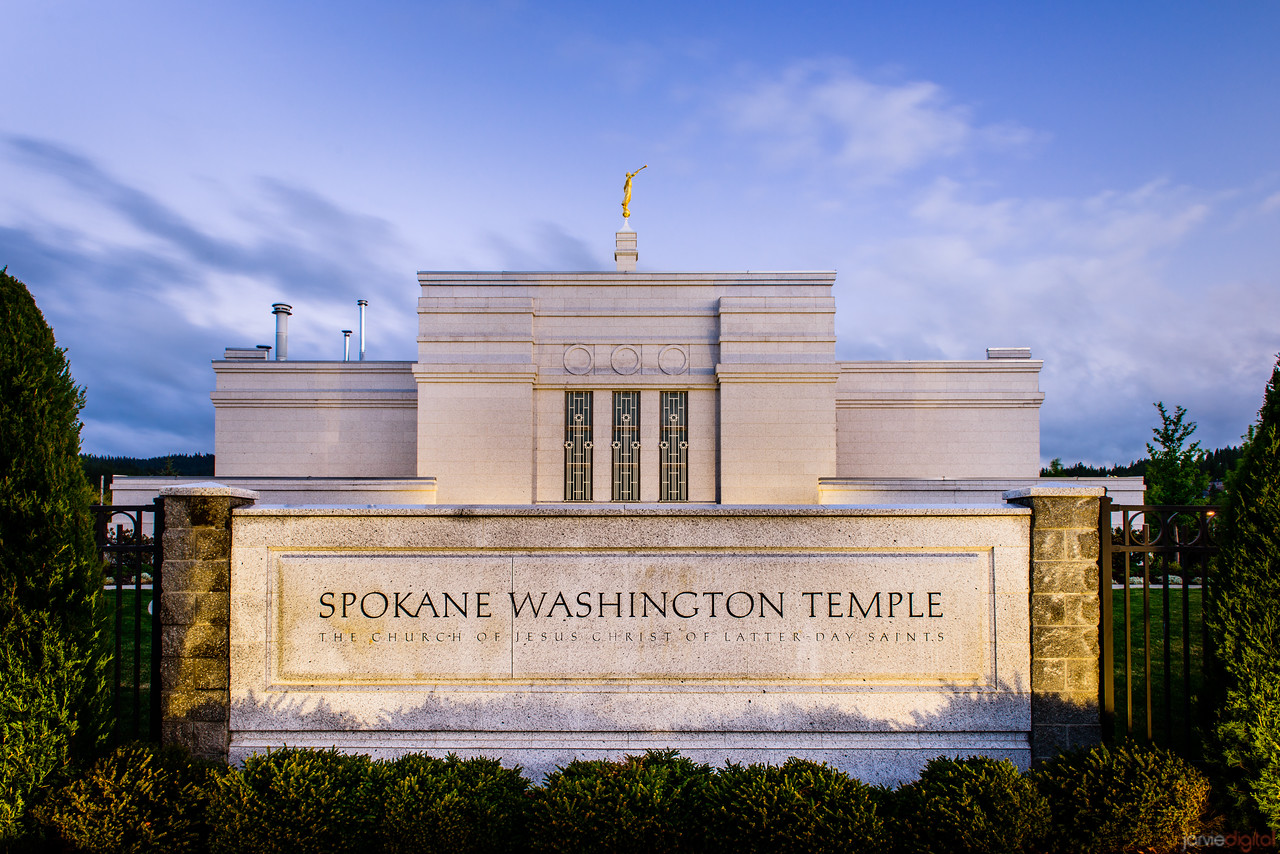 Spokane Temple Sign
