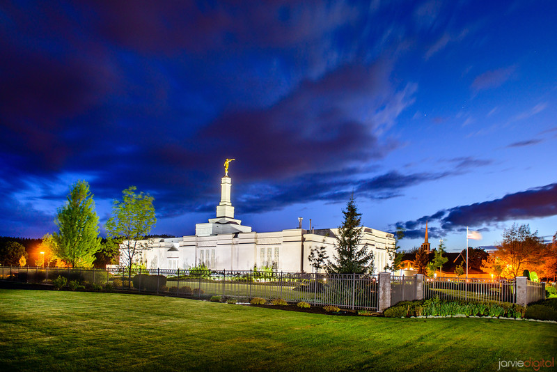 Spokane Temple Twilight (Back)