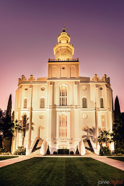 St George Temple Twilight
