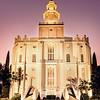 St George Temple Twilight