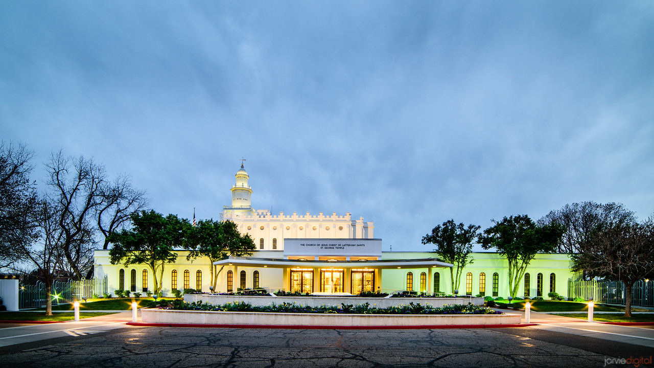 St George Temple Entry