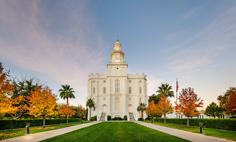 St George Temple - Autumn