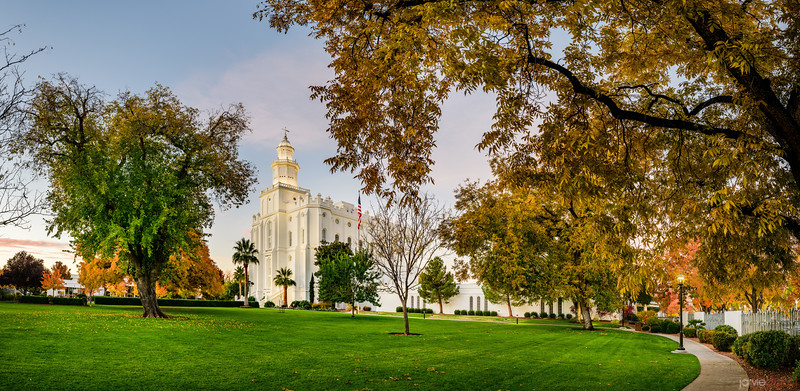 St George Temple - Fall Colors