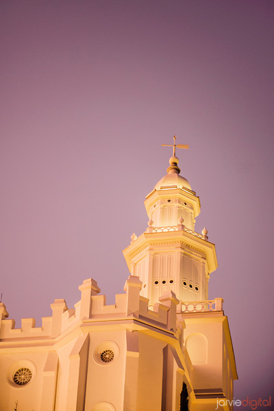 St George Temple Twilight Spire