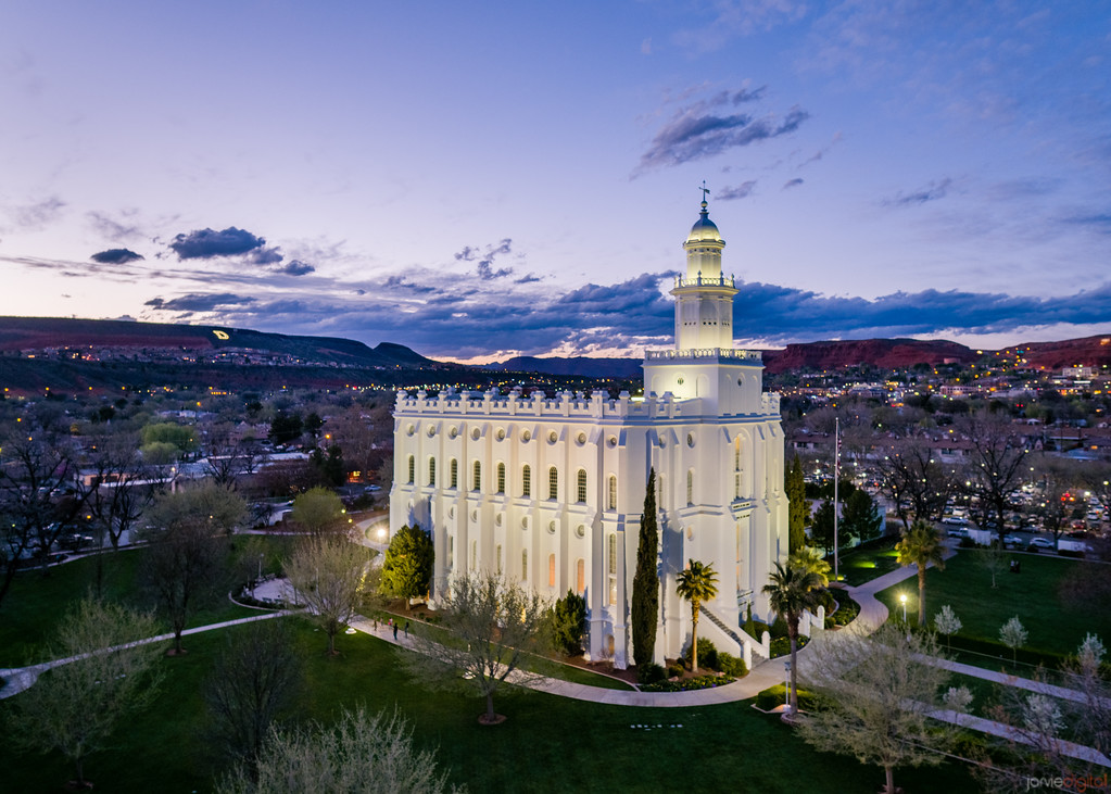 St George Temple Dixie Twilight