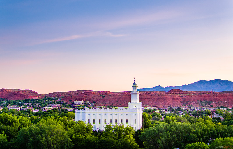 St George Temple - Above the trees