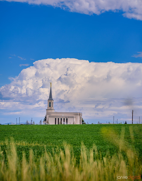 Star Valley Temple - Field and Clouds