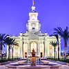 Tijuana Temple - Fountains in Blue