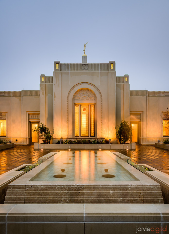 Tucson LDS Temple - water feature