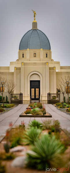 Tucson LDS Temple - panorama vertical