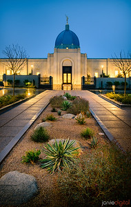 Tucson LDS Temple - leading to the temple