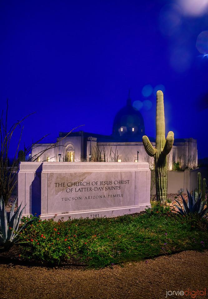 Tucson LDS Temple - sign