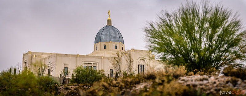Tucson LDS Temple - on a hill