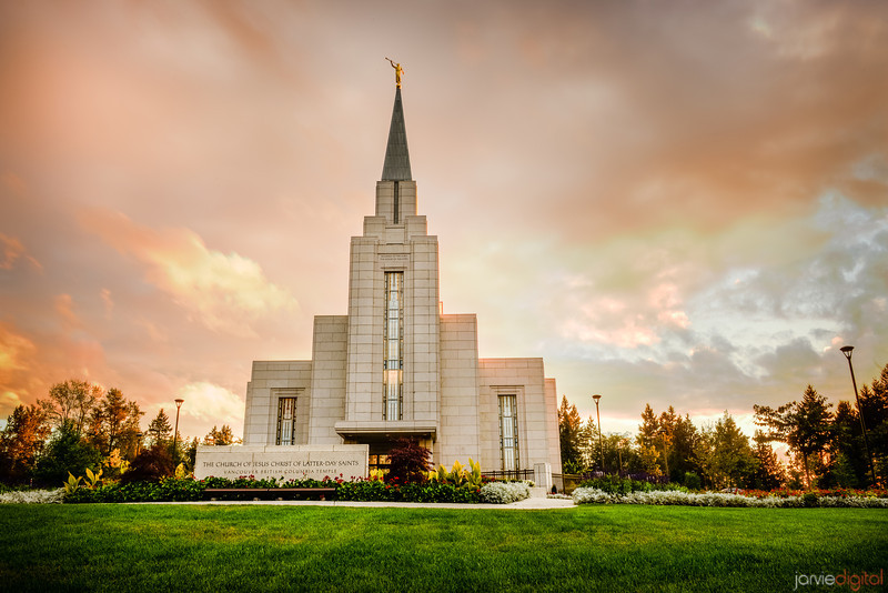 Vancouver Temple Sunset (Front)