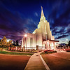 Vancouver Temple Twilight (From Corner)