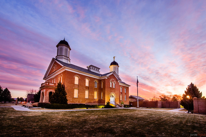 Vernal Temple Sunrise South