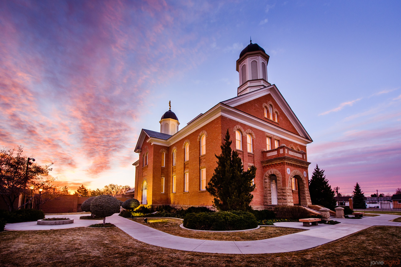 Vernal Temple Sunrise West