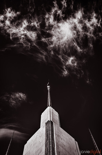 DC Temple BW Spires