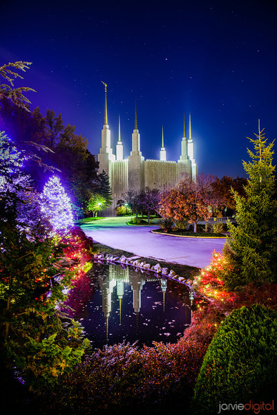 DC Temple Night Reflections