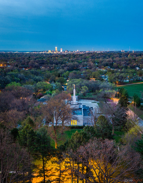 Winter Quarters Temple - Omaha in the distance