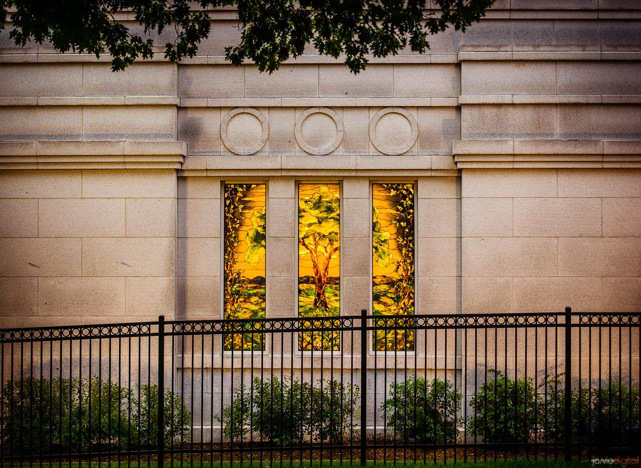 Winter Quarters Temple Window