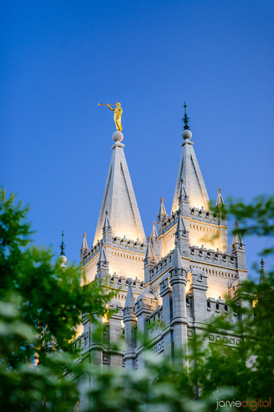 Salt Lake temple spires