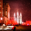 SLC Temple Snow