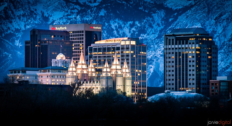 SLC Temple Skyline