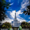 Fresno California LDS Temple - Mid Summer day