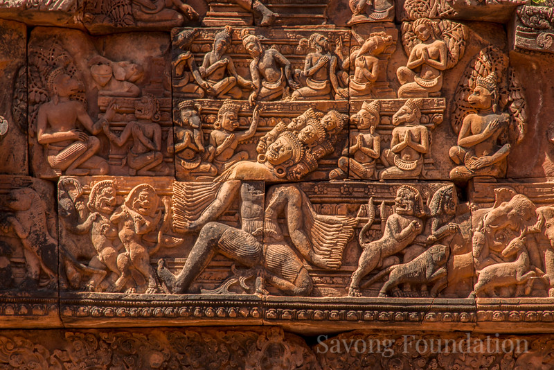 Carvings at Banteay Srei