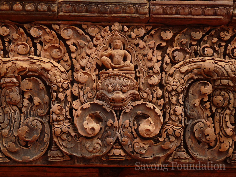 Carving at Banteay Srei Temple