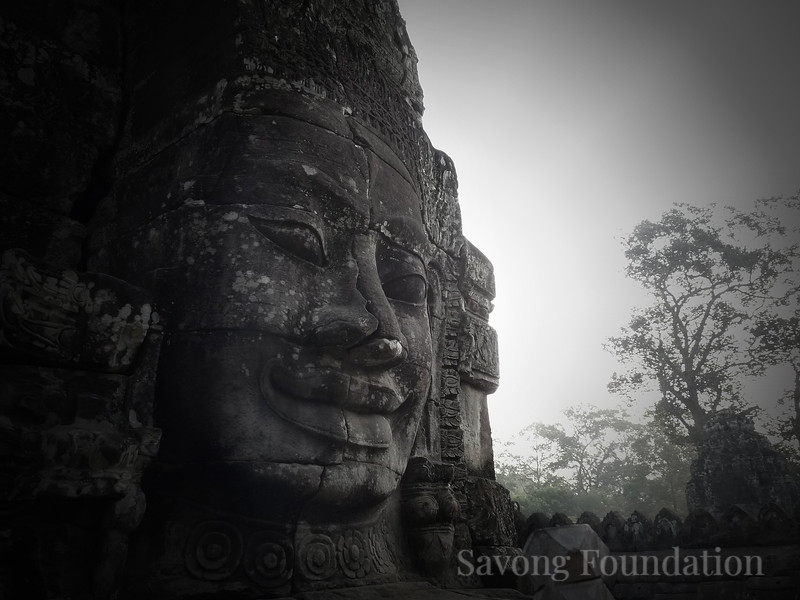 A Face at the Bayon Temple